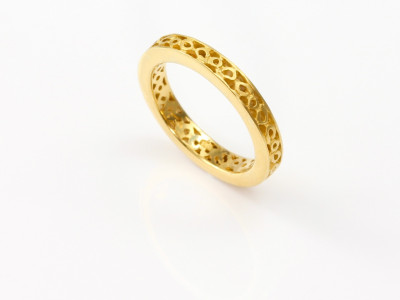 Roman Greek style Gold Ring