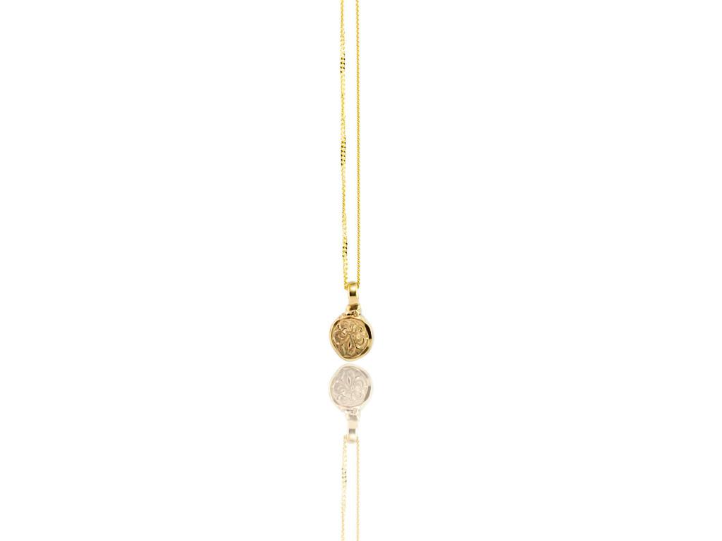 Fleur-De-Lis   solid 9K gold necklace made to order