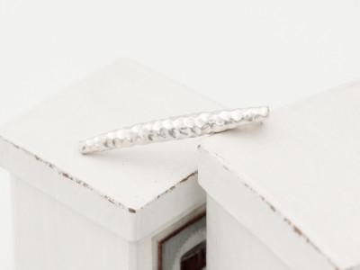 Gehaemmert - Sterling Silver hammered Brooch