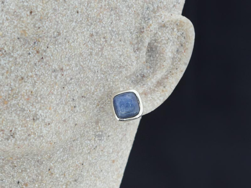 KYANITE SQUARED | Earrings handcrafted in Sterling Silver (sold)
