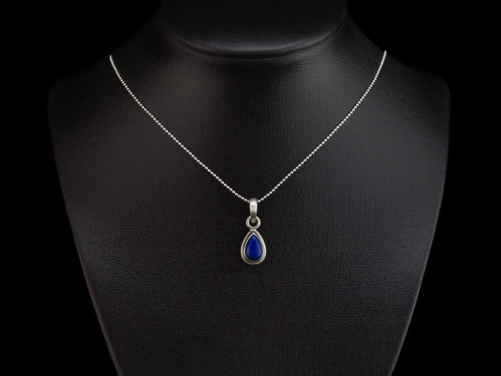 LAPIS LAZULI DROP | Sterling Silver necklace (sold out)