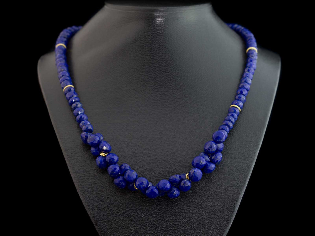 Gold speckled Lapis Lazuli Spheres necklace (Sold Out)