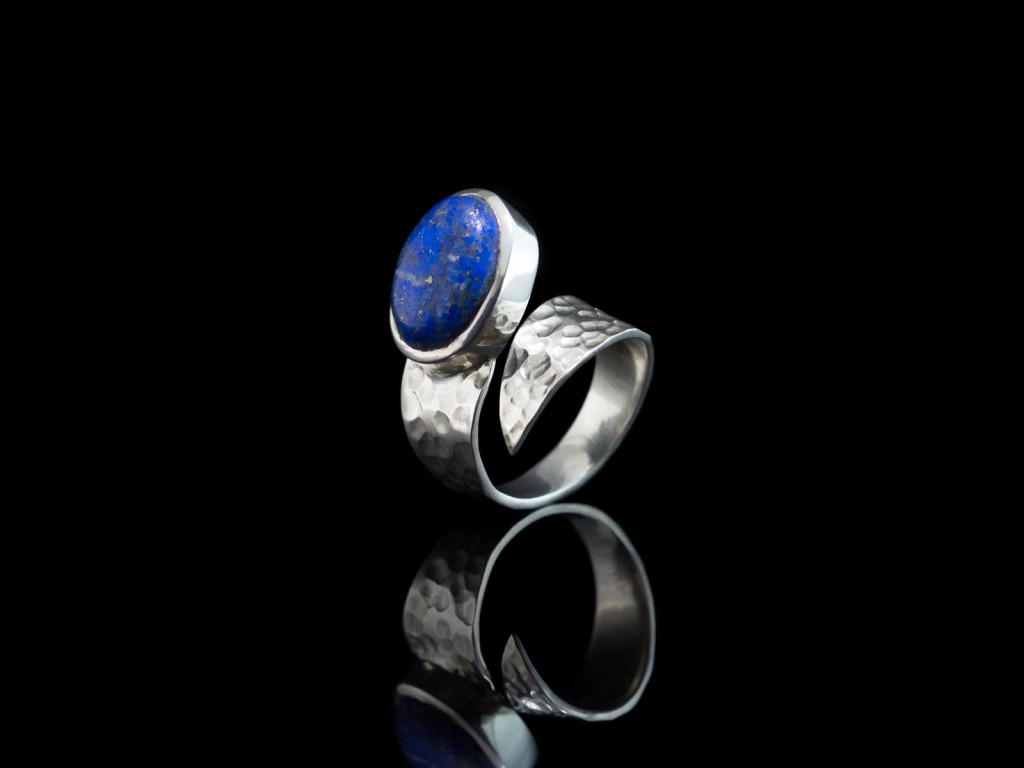 Blue Swirl | Lapis-Lazuli Ring in Sterling Silver (Sold out)