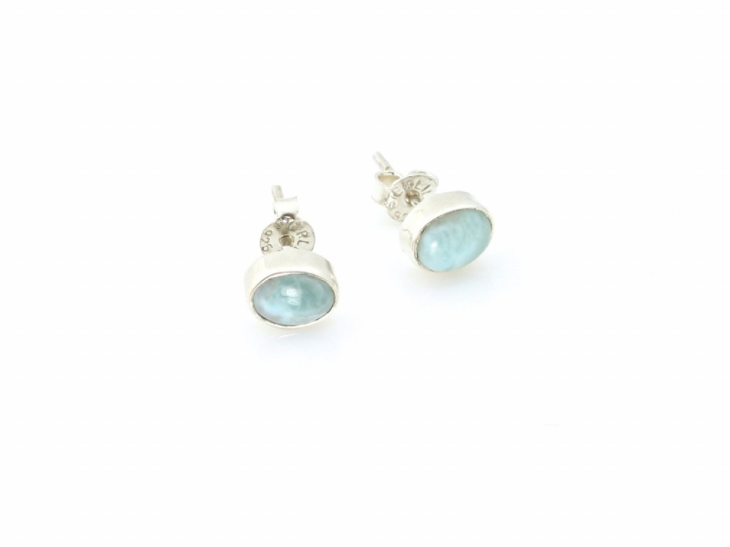 Larimar Sterling Silver ear studs - Atlantis (sold out)