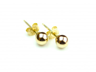 9ct Studs - golden earstuds with sphere (Sold out)