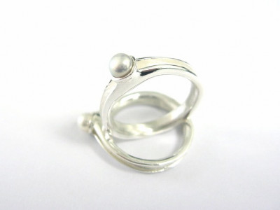 Pearlsilver- Silver Ring with freshwater Pearl