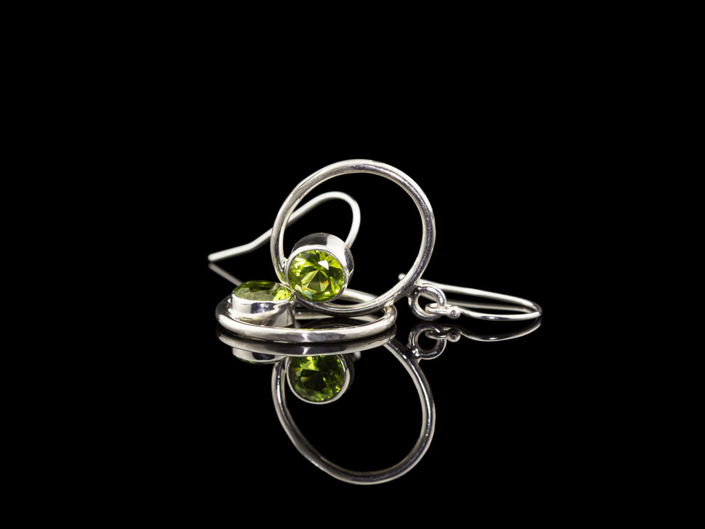 CIRCLING PERIDOTS | Earrings in Sterling Silver (Sold Out)