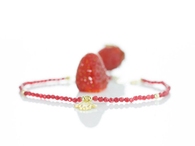 RUBY HAMSA | Bracelet with gold vermeil elements (sold out)