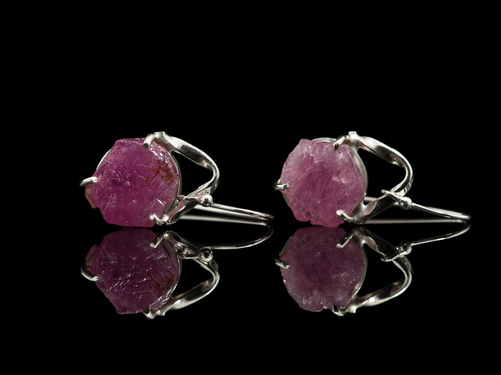 NATURAL RUBY | Sterling Silver earrings (sold)