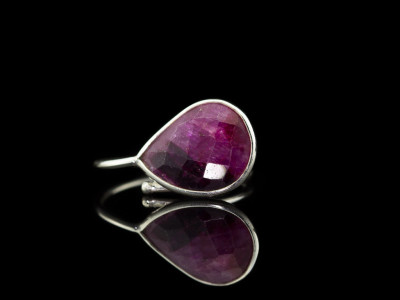 RUBY TWO TONE | Sterling Silver ring
