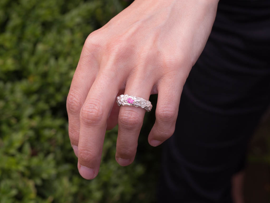 RUBY TWIG | Sterling Silver ring