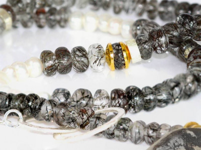 Necklace with black rutilated Quartz (Sold Out)