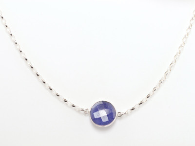 Sapphire Sterling Silver necklace (sold out)