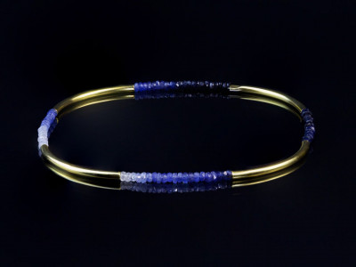Quattro Blue | Shaded AAA Sapphire Gold bracelet (sold out)