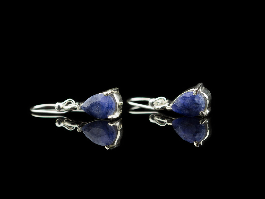 BLUE DROPS | Sterling Silver earrings with Sapphires (Sold Out)