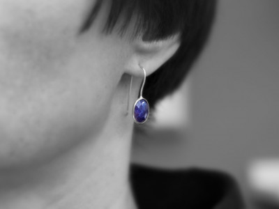 LADY IN BLUE | Sterling Silver earrings with Sapphires (sold out)