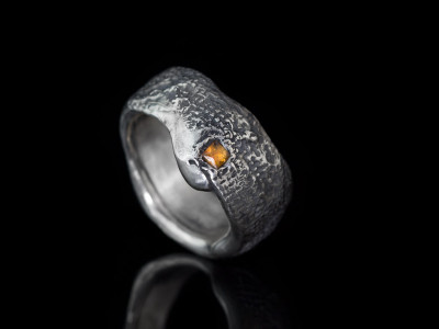 ORGANIC PADPARADSCHA SAPPHIRE | Sterling Silver ring (made to order)