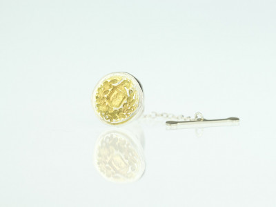 FAMILY CREST | Sterling Silver and 24ct Gold Tie Pin (made to order)