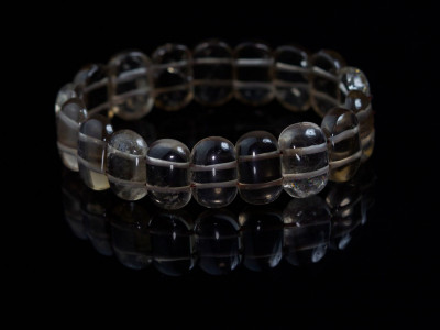 Kristall Smoke | Smoky Quartz Crystal bracelet with mystic inclusions and very smooth surface (sold)