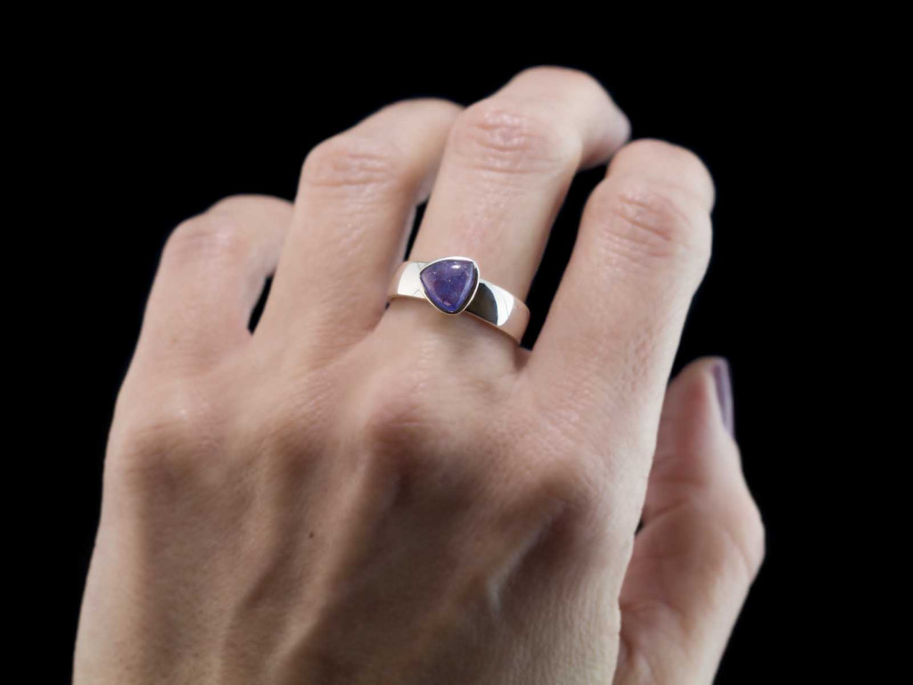 Tanzanite Trillion Ring | Sterling Silver with blue Tanzanite (sold out)