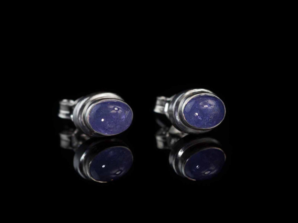 Blue Tanzanite ear studs set in Sterling Silver (sold out)