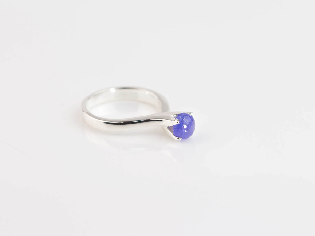 Embracing Tanzanite Ring | Shiny Smooth Sterling Silver Ring in AAA quality (sold out unfortunately)
