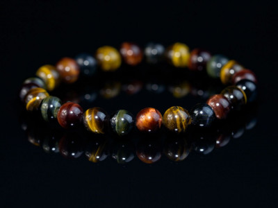 Sphere's of Tiger's Eye bracelet | Variations in Red Gold Green and Brown (sold out)