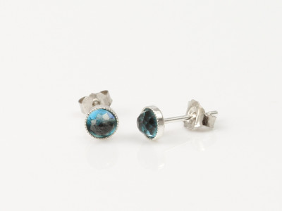 London Blue Topaz Sterling Silver earstuds (sold out)