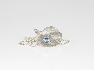 LONDON LILY LEAF | Topaz Sterling Silver necklace (made to order)