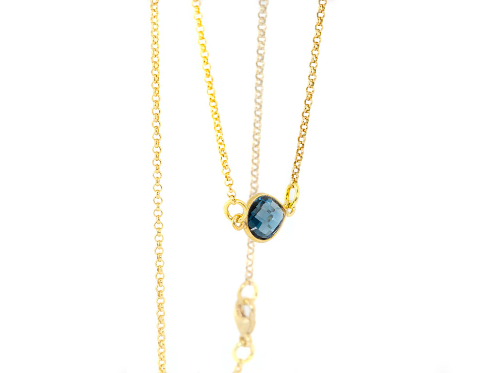 LONDON CALLING | Necklace with London Blue Topaz in Gold vermeil (sold out)