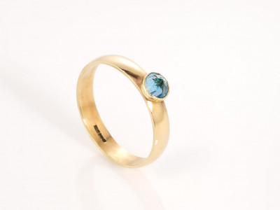LONDON CALLING | 9ct Gold ring with London Blue Topaz (sold)