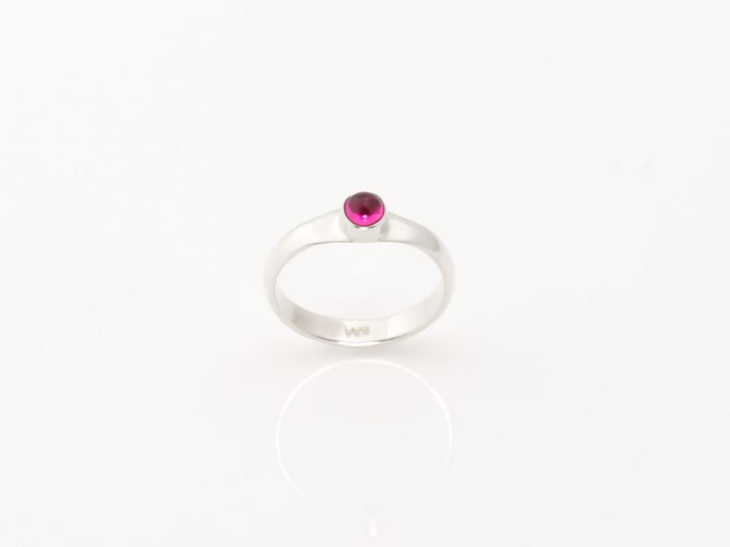 Pink Tourmaline Sterling Silver ring