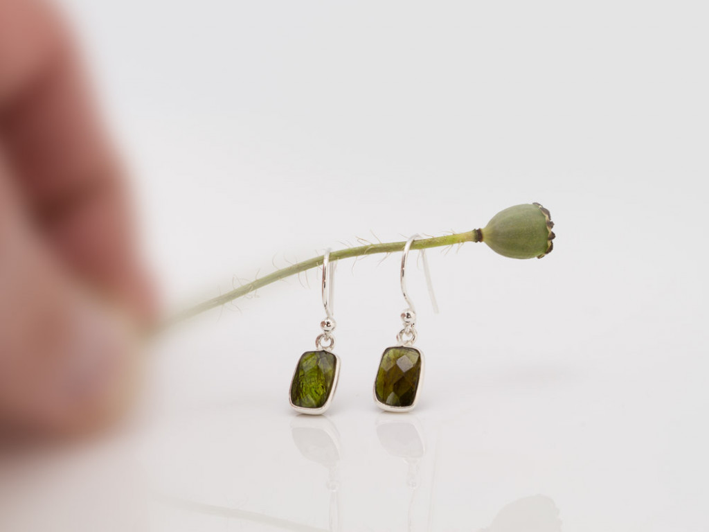 DARK GREEN TOURMALINE | Sterling Silver earrings (sold out)