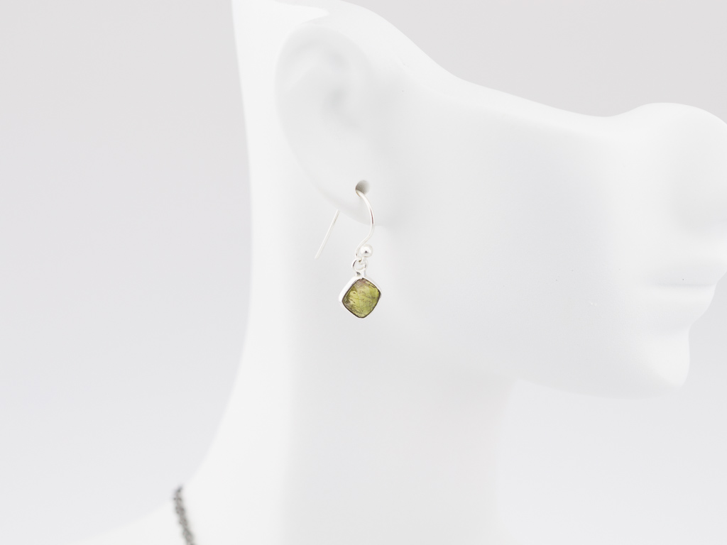 FOREST GREEN TOURMALINES | Sterling Silver earrings (sold)
