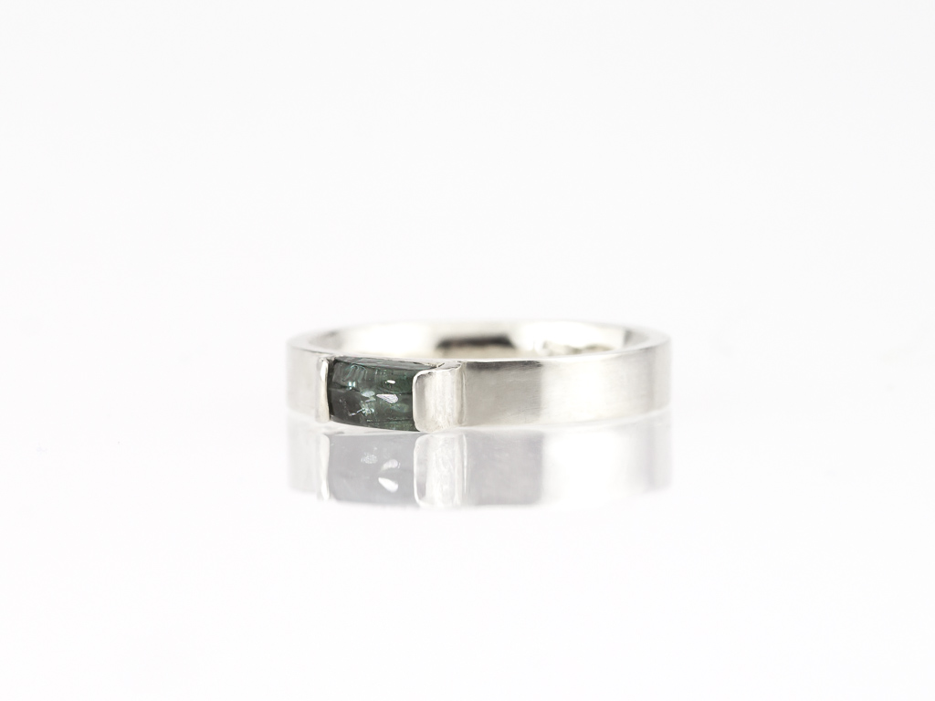 GREEN BLUE TOURMALINE | Sterling Silver ring (sold)