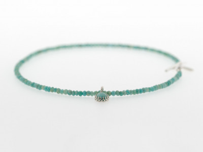 AMAZONITE SUN | Necklace with Sterling Silver artwork (Sold out)
