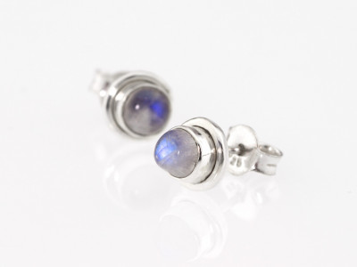 BLUE MOON | Sterling Silver ear studs with Moonstone (Sold Out)