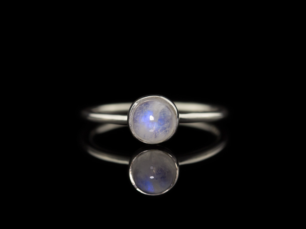 PUFFY RAINBOW MOONSTONE | Sterling Silver ring (Sold out)