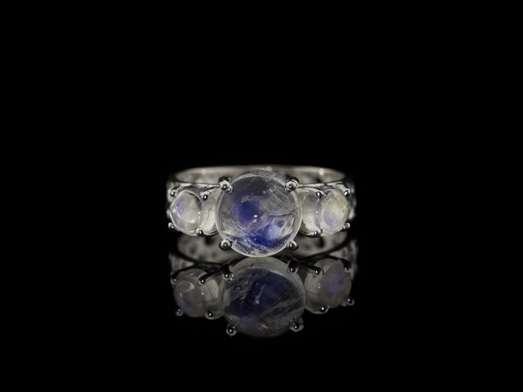 CATHEDRAL | Triple Moonstone ring in Sterling Silver (sold)