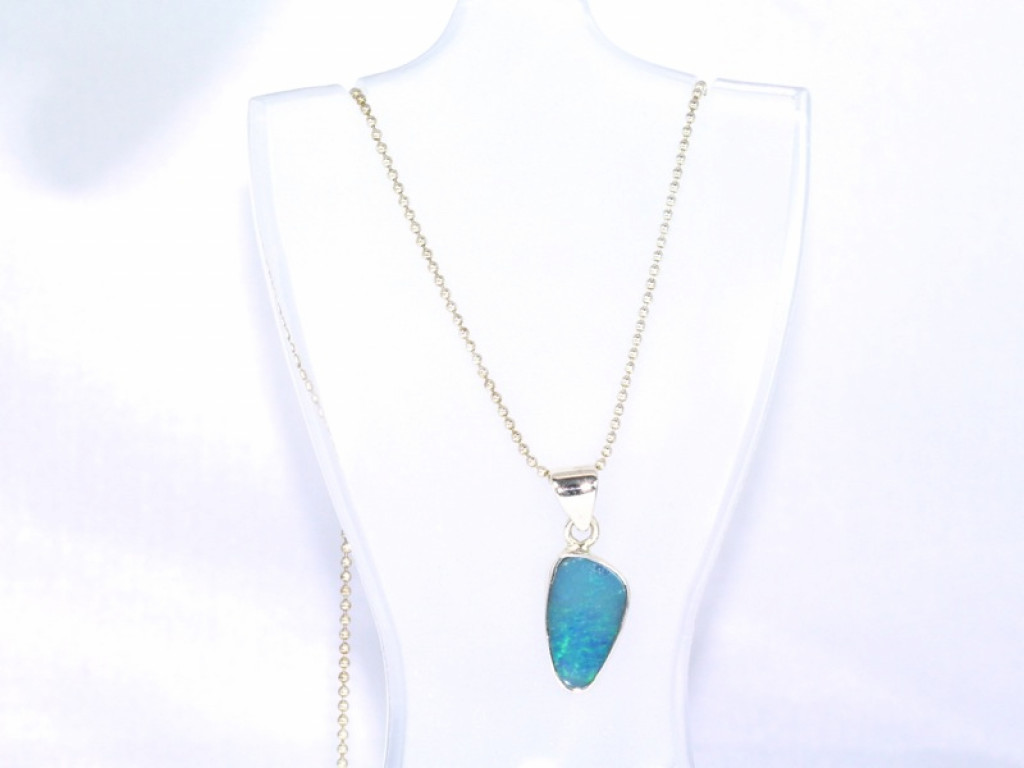 Australian Opal - Sterling Silver Pendant with blue Opal (sold out)