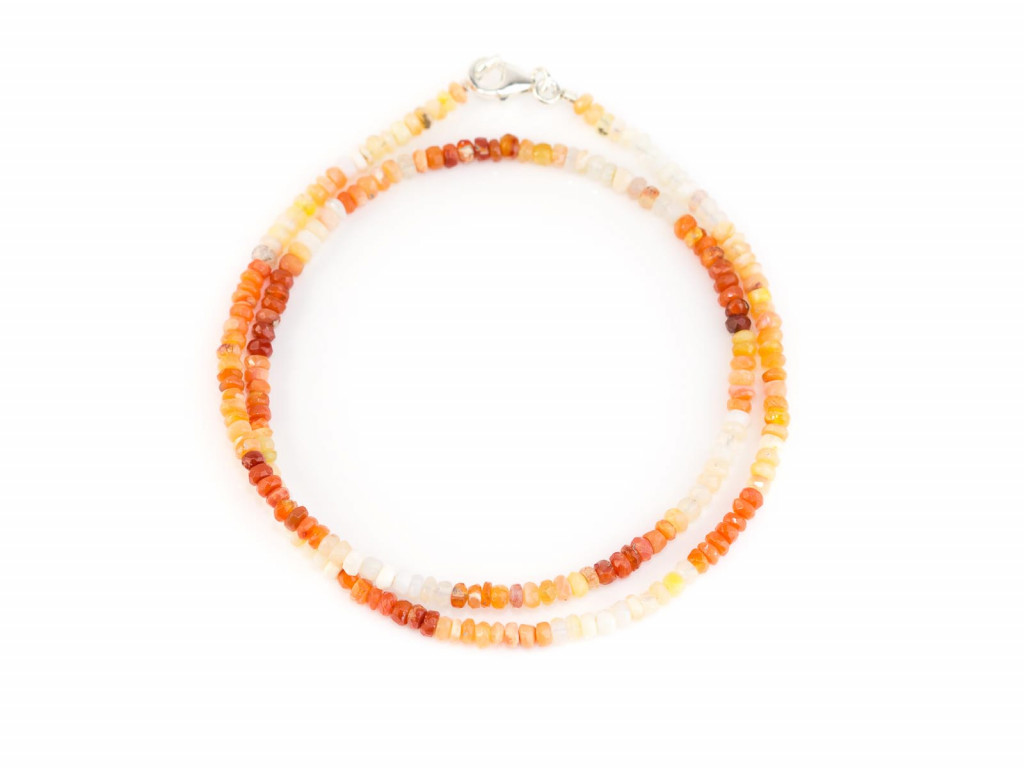 Fire Opal necklace with 925 Silver clasp (sold out)