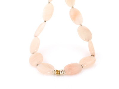 Peruvian Pink Opal necklace with Gold and Sterling Silver beads (sold out)