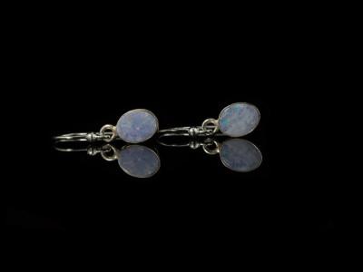 AUSTRALIAN BLUE   Opal Earring set in Sterling Silver (Sold Out)