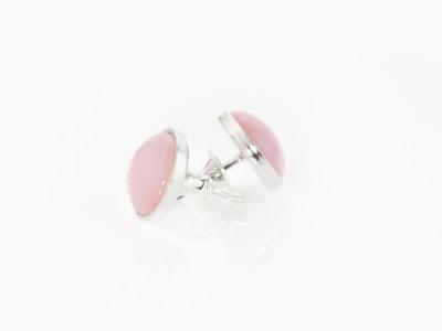 PERUVIAN PINK OPAL | Sterling Silver ear studs (sold)
