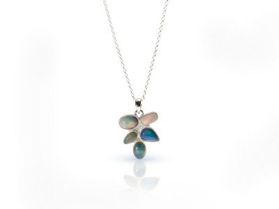 A BUNCH OF OPALS on a Sterling Silver necklace (sold out)