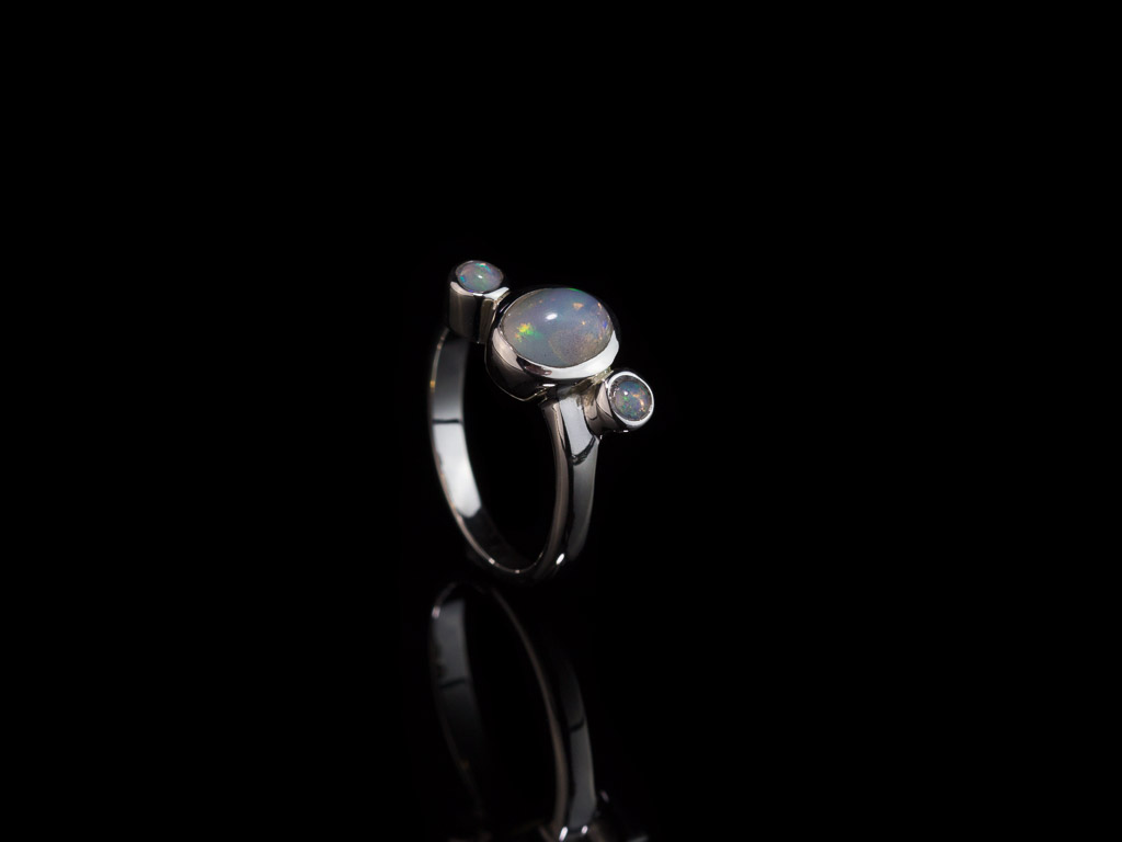 TRIPLE OPAL | Sterling Silver ring with three natural Opals (sold)