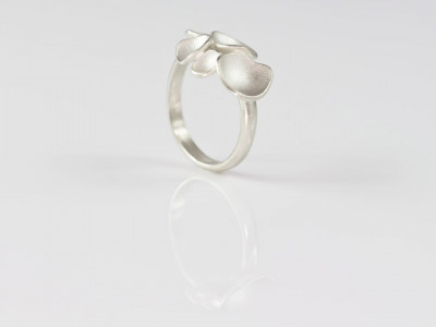Little Enchanted Mushrooms | Ring topped with tiny seed pods cast in Sterling Silver (Made to order)