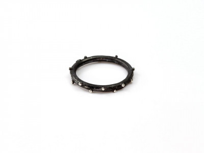 Twig Ring Black Vintage with Buds Sterling Silver Ring (Sold Out)