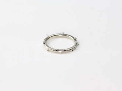 Twig Ring with Buds Sterling Silver Ring (sold)