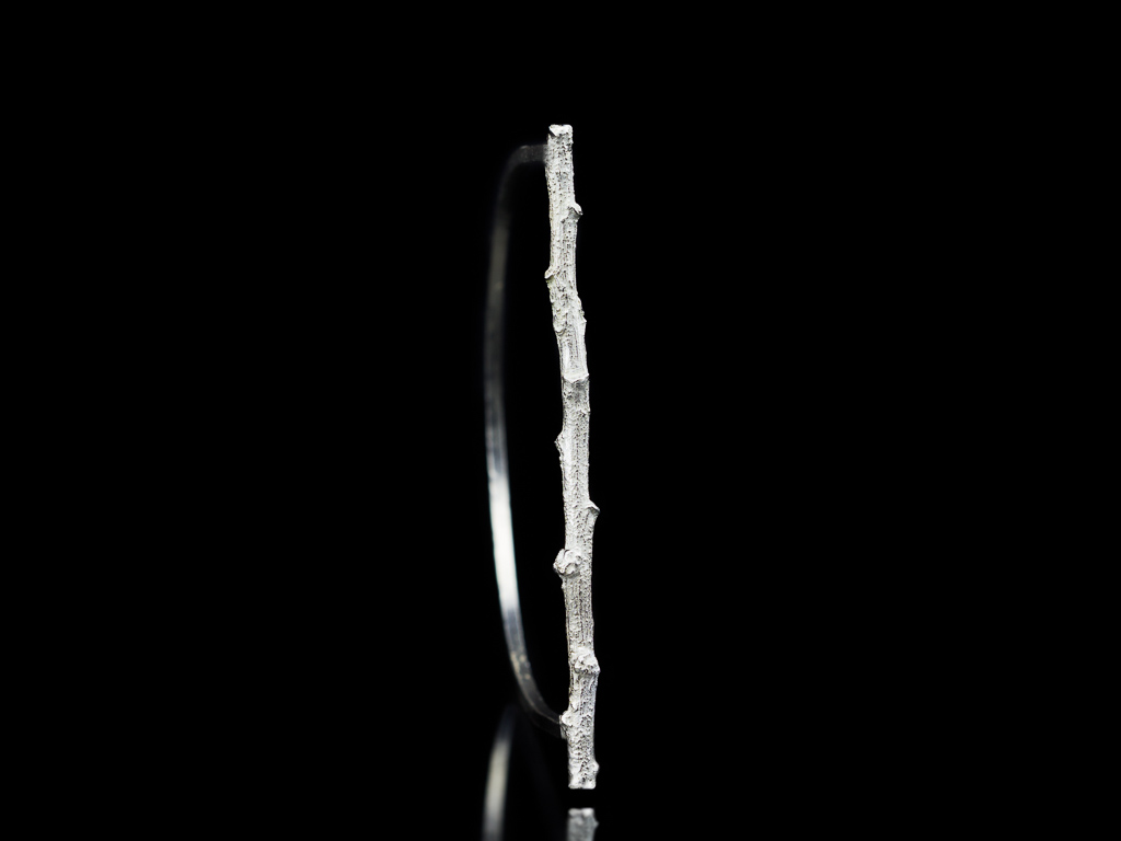 SILVER TWIG | Bangle handcrafted in Sterling Silver (made to order)